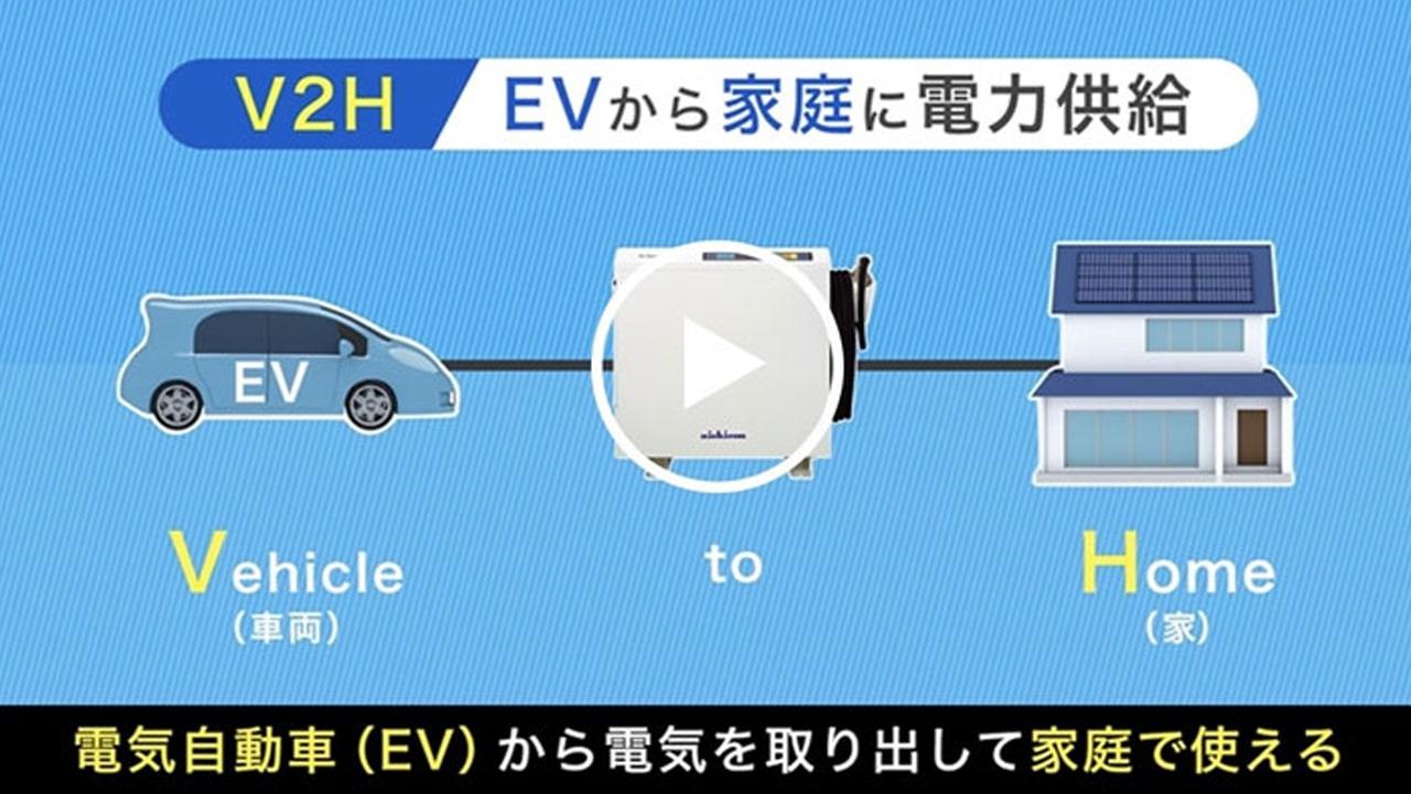 クルマが暮らしの電源に!ニチコンのEVパワー・ステーション(54秒)
