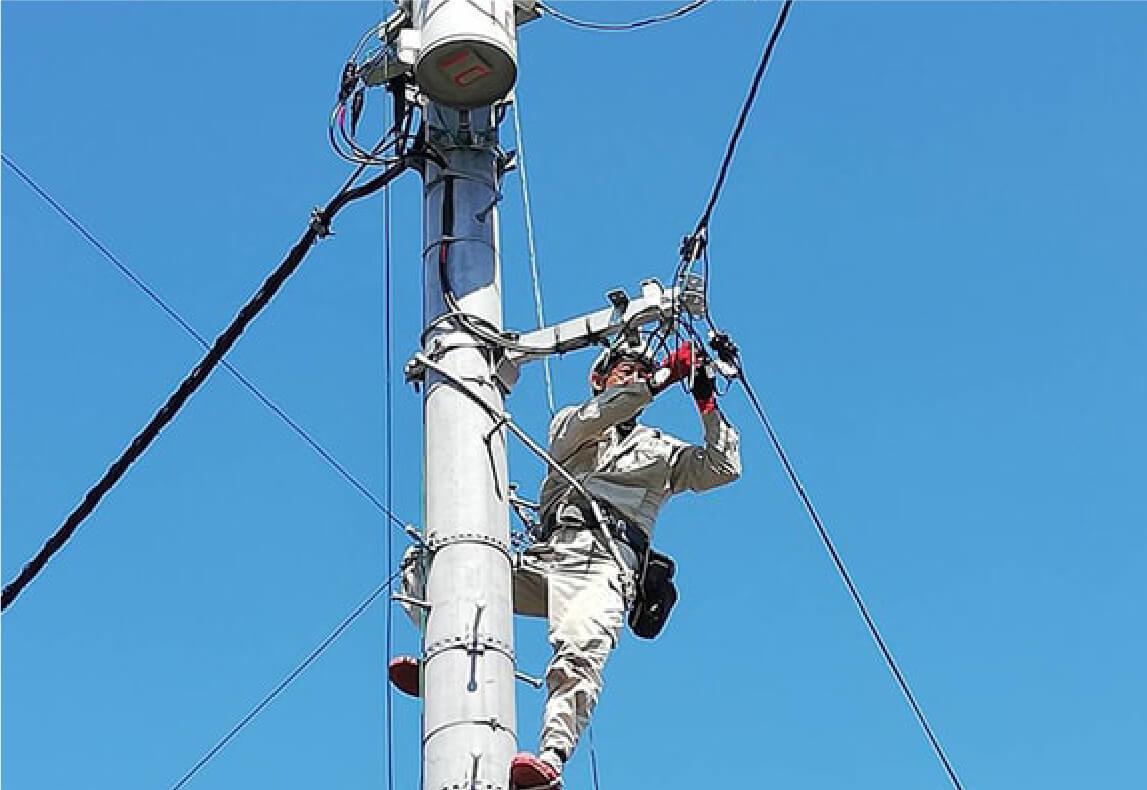 電柱引込線工事